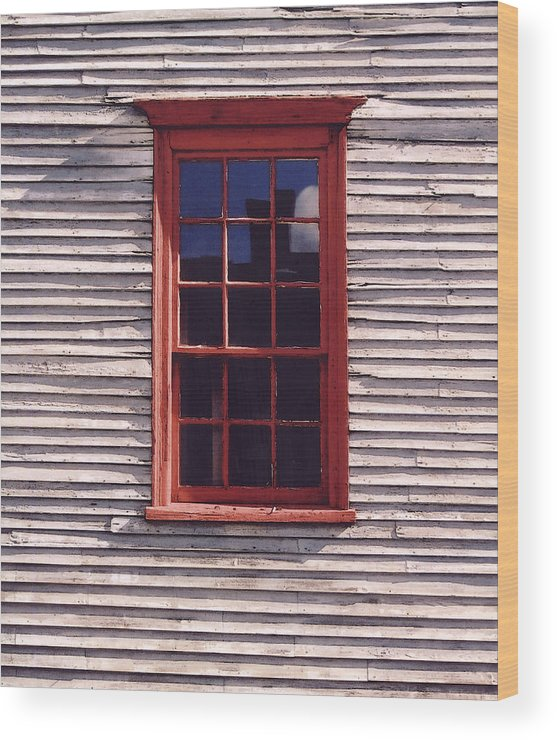 Window Wood Print featuring the photograph Old Red Window by Mary Bedy