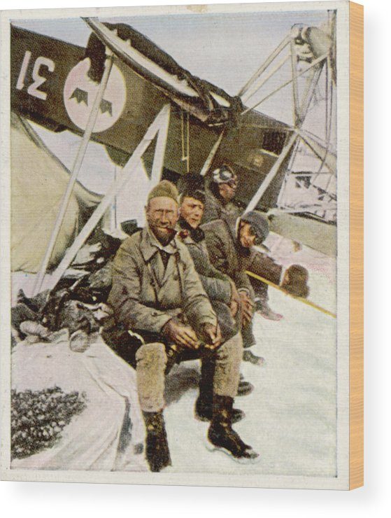 Lundborg Wood Print featuring the photograph Swedish Aviator Lundborg, Who by Mary Evans Picture Library