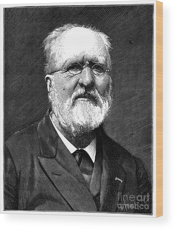 19th Century Wood Print featuring the photograph Gabriel De Mortillet by Granger