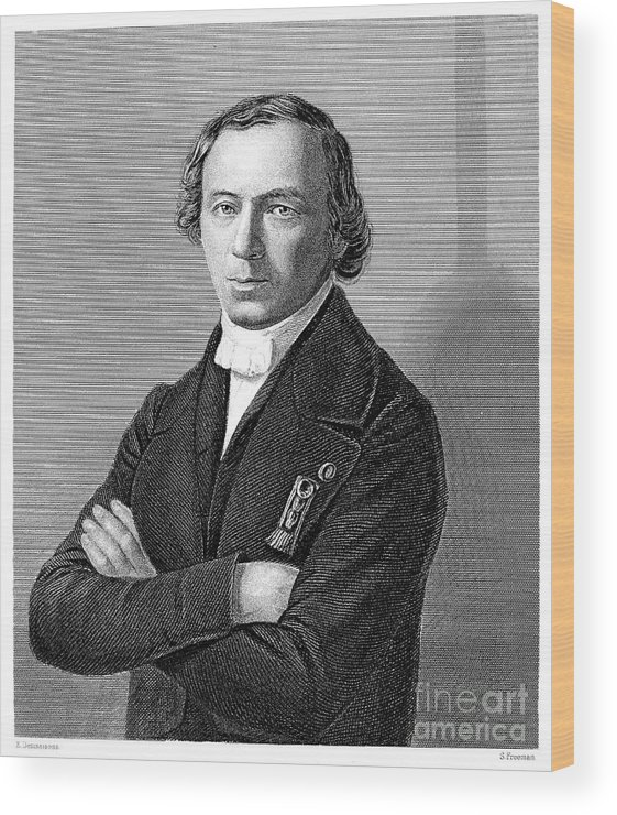 19th Century Wood Print featuring the photograph Jean Baptiste Andr� Dumas by Granger