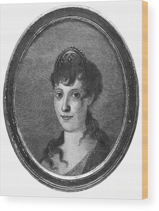 18th Century Wood Print featuring the photograph Maria Bonaparte (1750-1836) by Granger