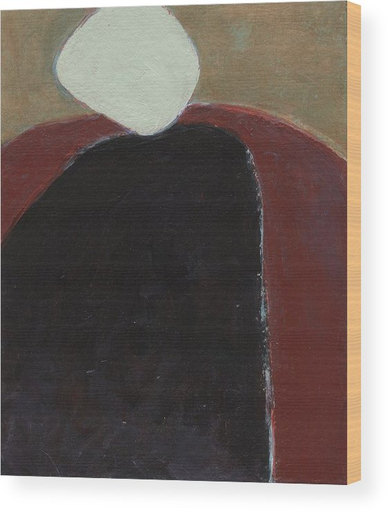 Abstract Wood Print featuring the painting Abutting by Alice Kirkpatrick