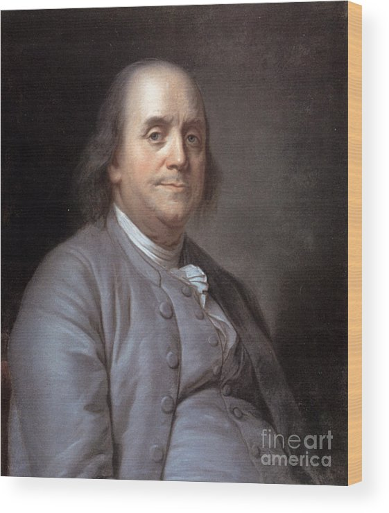 1783 Wood Print featuring the photograph Benjamin Franklin by Granger