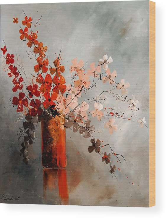 Flowers Wood Print featuring the painting Bunch 670908 by Pol Ledent