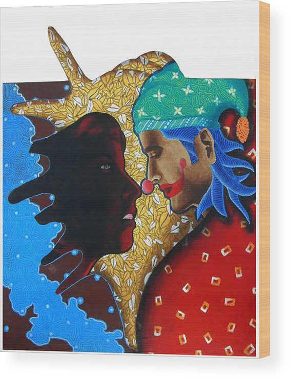 Joker Wood Print featuring the painting Floating Fantacy 4 by Bharat Gothwal