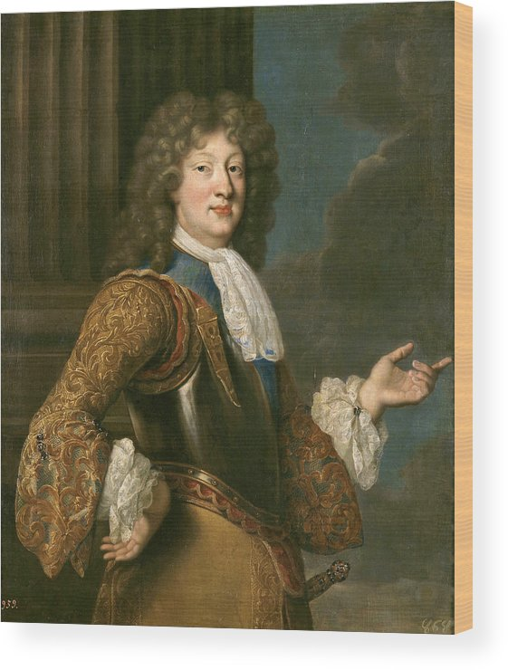 After Francois De Troy Wood Print featuring the painting Louis Of France The Grand Dauphin by After Francois de Troy