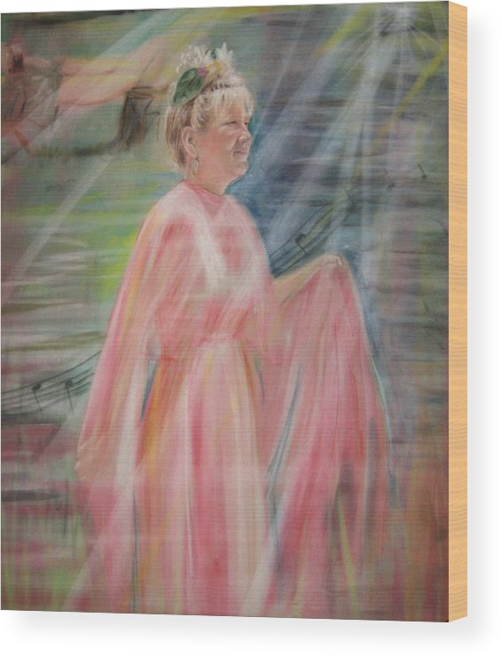 Mother Nature Wood Print featuring the pastel Magic Mother Nature by Larry Whitler