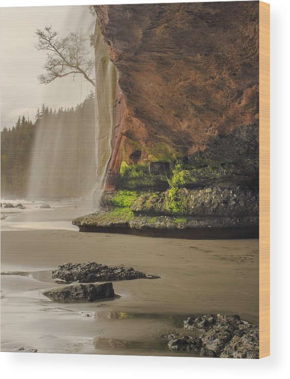 Waterfalls Wood Print featuring the photograph Mystic Memories by Sarah Howells