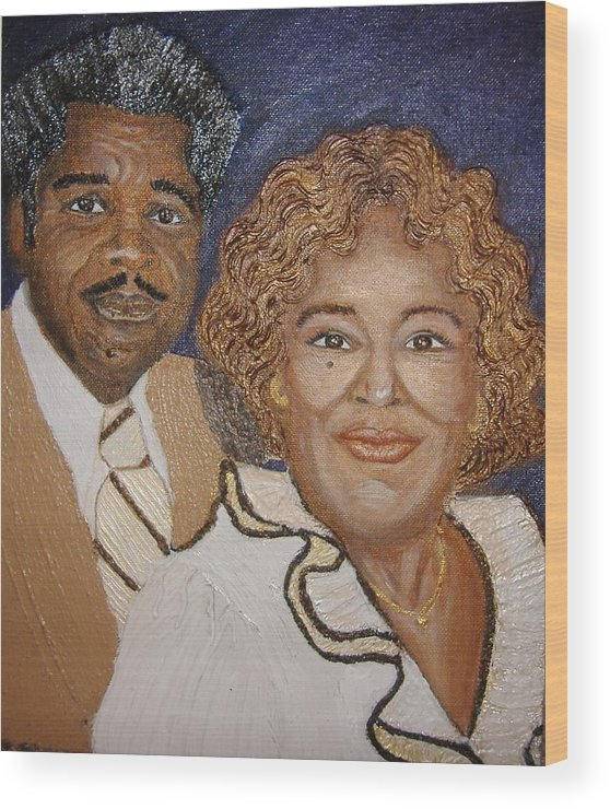 Acrylic Wood Print featuring the painting No Greater Love by Keenya Woods