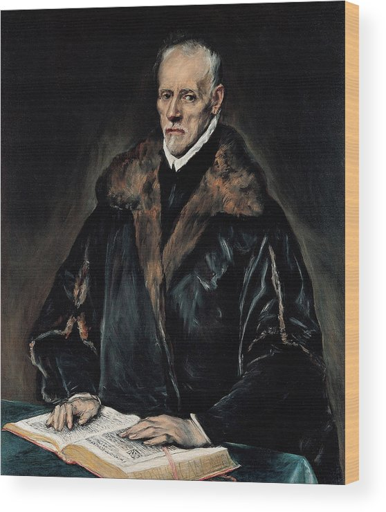 Beard Wood Print featuring the painting Portrait Of Dr. Francisco De Pisa by El Greco