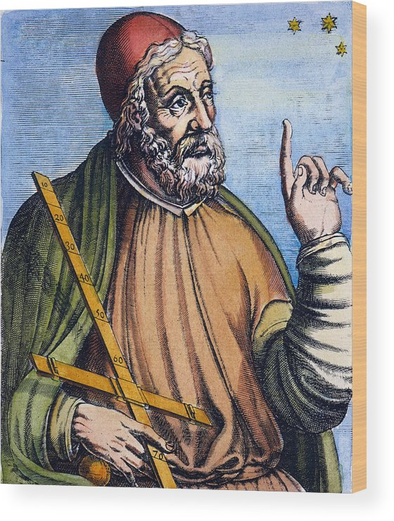 2nd Century Wood Print featuring the photograph Ptolemy (2nd Century A.d.) by Granger