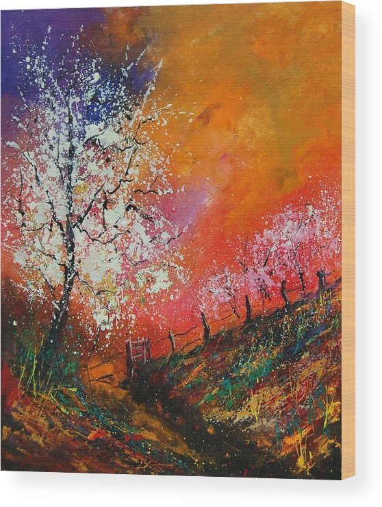 Spring Wood Print featuring the painting Spring Today by Pol Ledent