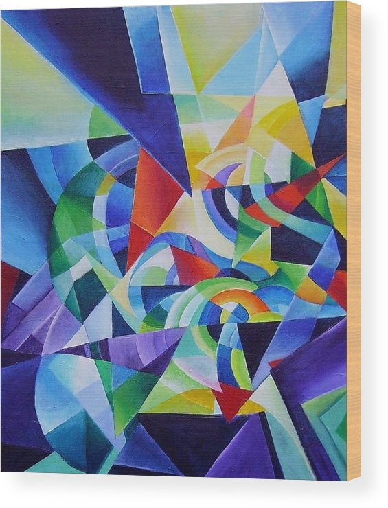 Spring Antonio Vivaldi Acrylic Abstract Music Four Seasons Wood Print featuring the painting Spring by Wolfgang Schweizer