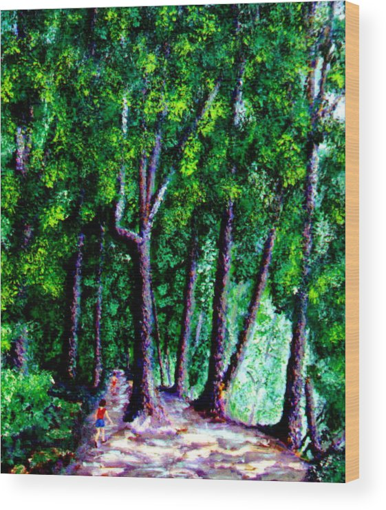 Trail Wood Print featuring the painting The Trail by Stan Hamilton