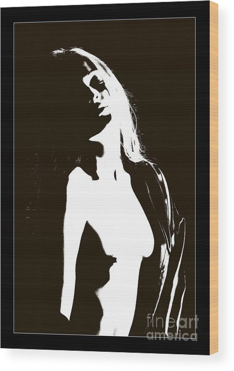 Nude Woman Wood Print featuring the photograph Feels So Good 1088.01c by Kendree Miller