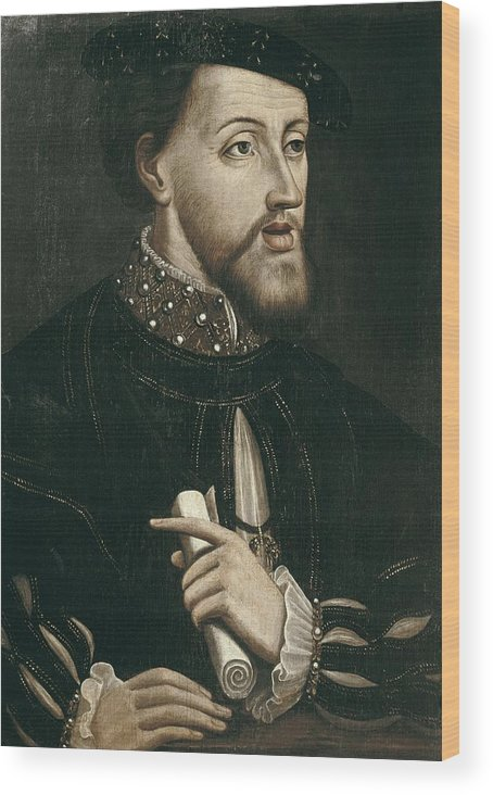 Portrait Wood Print featuring the photograph Charles V 1500-1558. Holy Roman Emperor by Everett