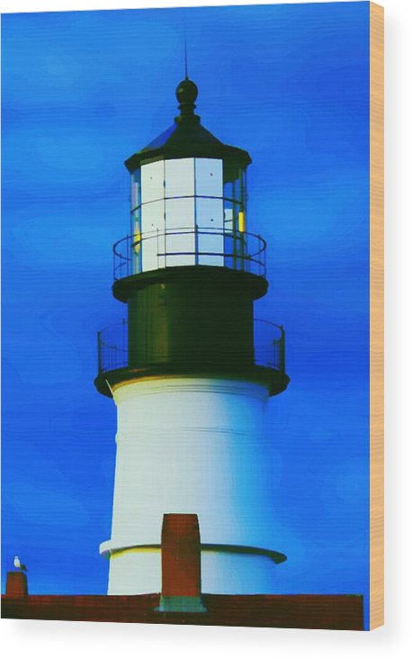 Portland Head Light Wood Print featuring the photograph Portland Head Lighthouse by Paul Szakacs