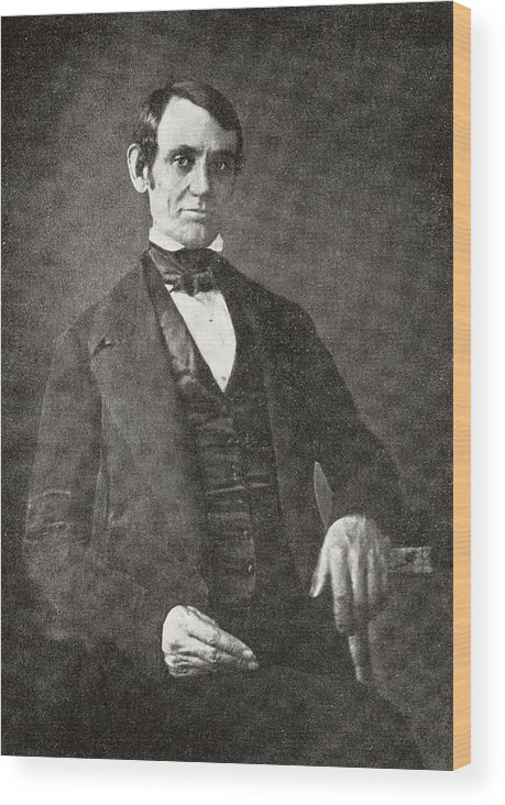 Abraham Lincoln Wood Print featuring the photograph Abraham Lincoln, 1809 – 1865. 16th President Of The United States Of America. From Abraham by Bridgeman Images