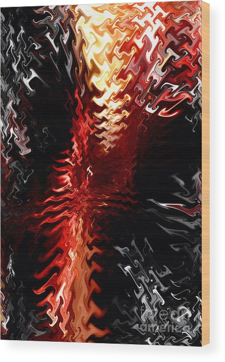 Abstract Art Wood Print featuring the digital art Abstract Art by Gayle Price Thomas