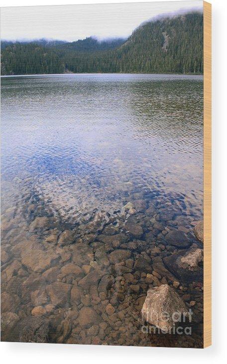 Lake Wood Print featuring the photograph Callaghan Lake Stones by Amanda Holmes Tzafrir