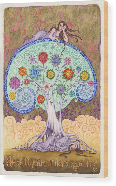 Conscious Dreaming Wood Print featuring the painting Conscious Dreaming by Tania Crossingham