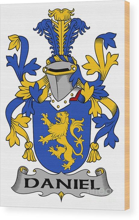 Daniel Wood Print featuring the digital art Daniel Coat Of Arms Irish by Heraldry