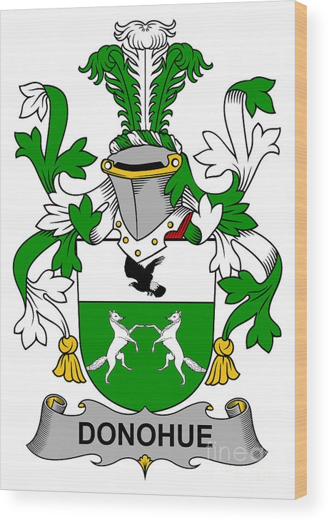Donohue Wood Print featuring the digital art Donohue Coat Of Arms Irish by Heraldry