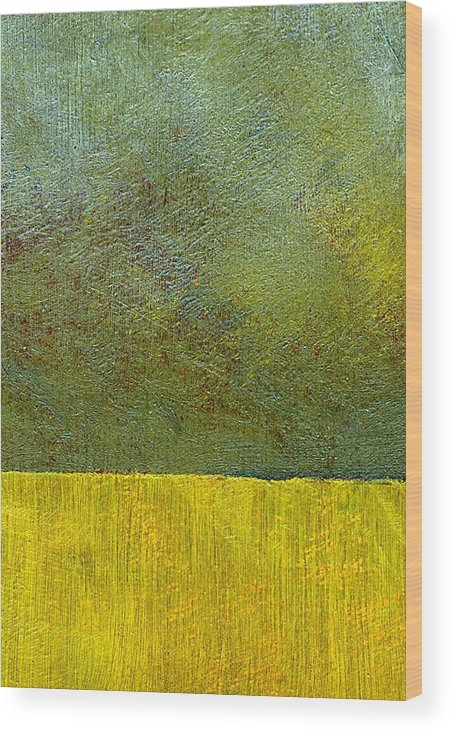 Abstract Landscape Wood Print featuring the painting Earth Study Two by Michelle Calkins