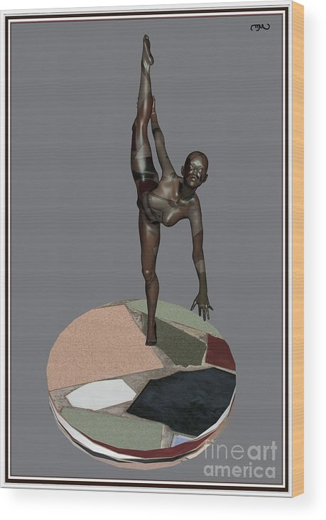 Modern Painting Wood Print featuring the painting erotic acrobatics 7EA 1 by Pemaro