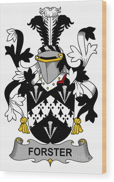 Forster Wood Print featuring the digital art Forster Coat Of Arms Irish by Heraldry