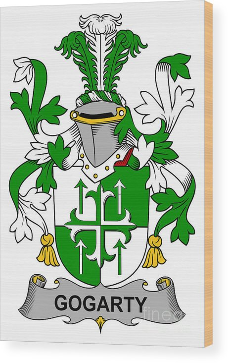 Gogarty Wood Print featuring the digital art Gogarty Coat Of Arms Irish by Heraldry