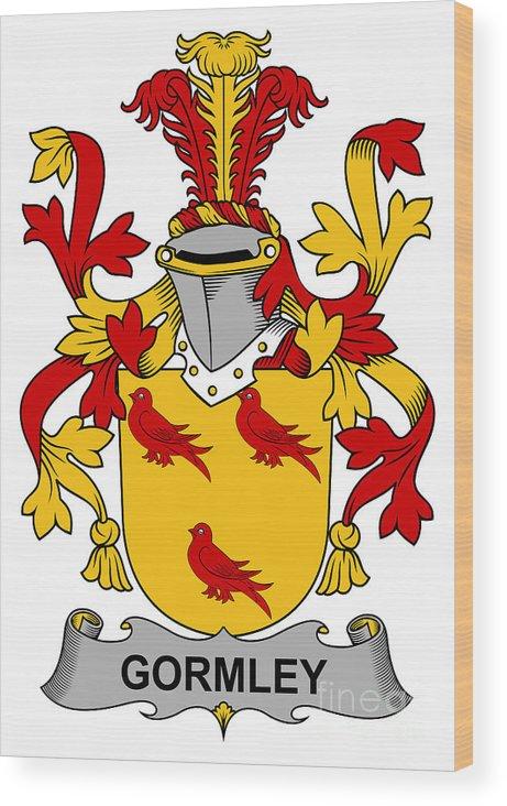 Gormley Wood Print featuring the digital art Gormley Coat Of Arms Irish by Heraldry