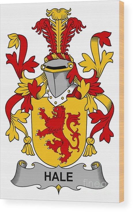 Hale Wood Print featuring the digital art Hale Coat Of Arms Irish by Heraldry