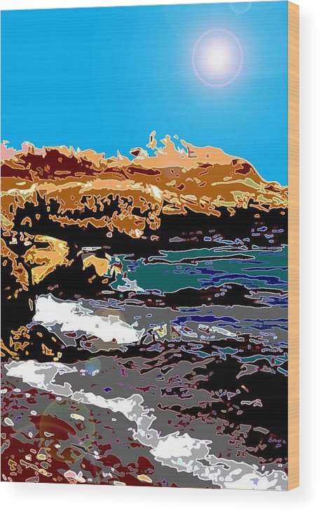 Ocean Scape Wood Print featuring the photograph Kennebunkport Beach by Edward Joseph Anthony