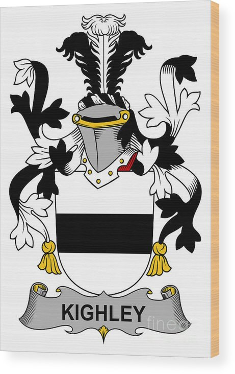 Kighley Wood Print featuring the digital art Kighley Coat Of Arms Irish by Heraldry