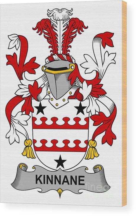 Kinnane Wood Print featuring the digital art Kinnane Coat Of Arms Irish by Heraldry