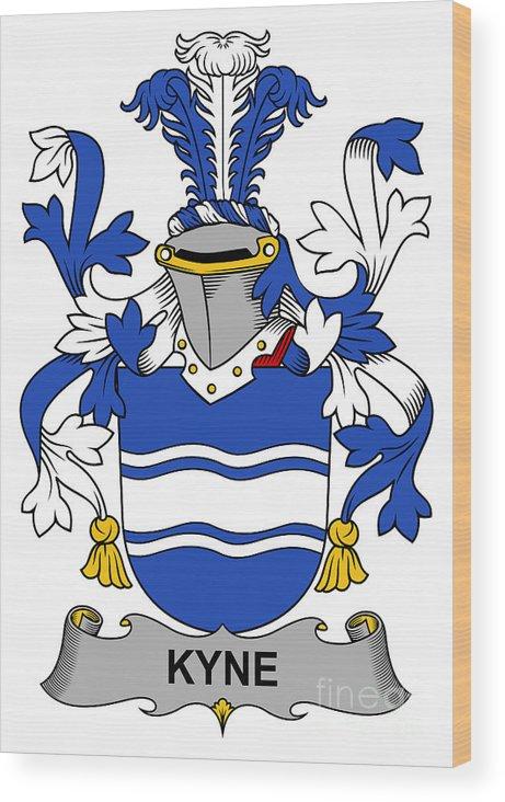 Kyne Wood Print featuring the digital art Kyne Coat Of Arms Irish by Heraldry