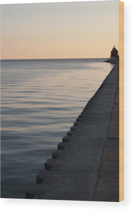 Sunset Wood Print featuring the photograph Lake Michigan Sunset by Shelley Thomason