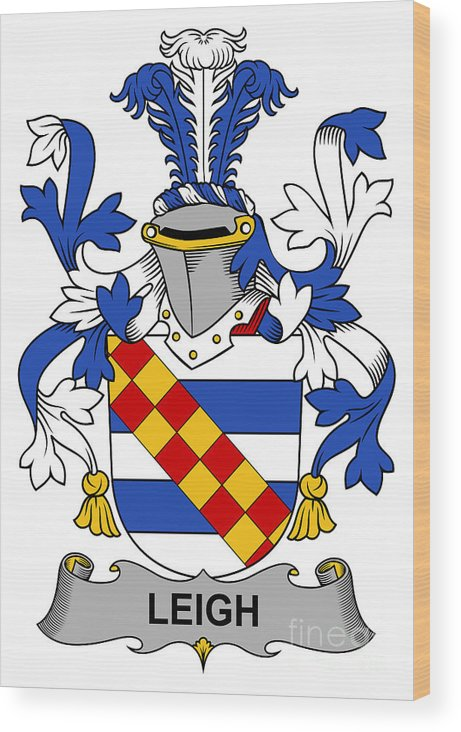 Leigh Wood Print featuring the digital art Leigh Coat Of Arms II Bradley Lancashire by Heraldry
