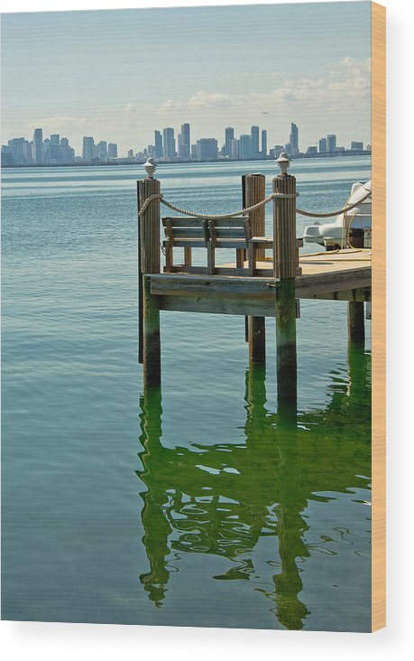 Koryagin Oleg Wood Print featuring the photograph Miami In The Distance by Oleg Koryagin