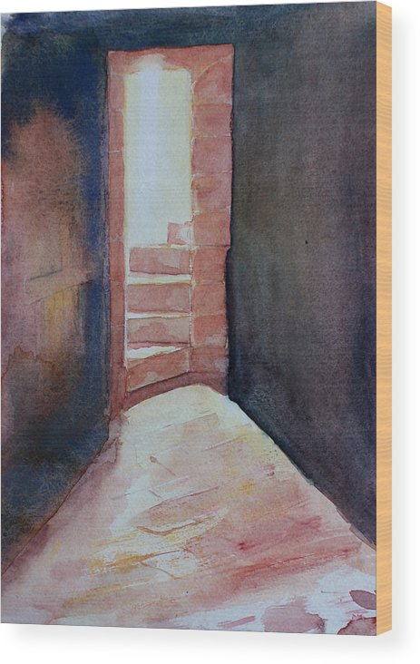 Light Wood Print featuring the painting Secrets by Janice Gell