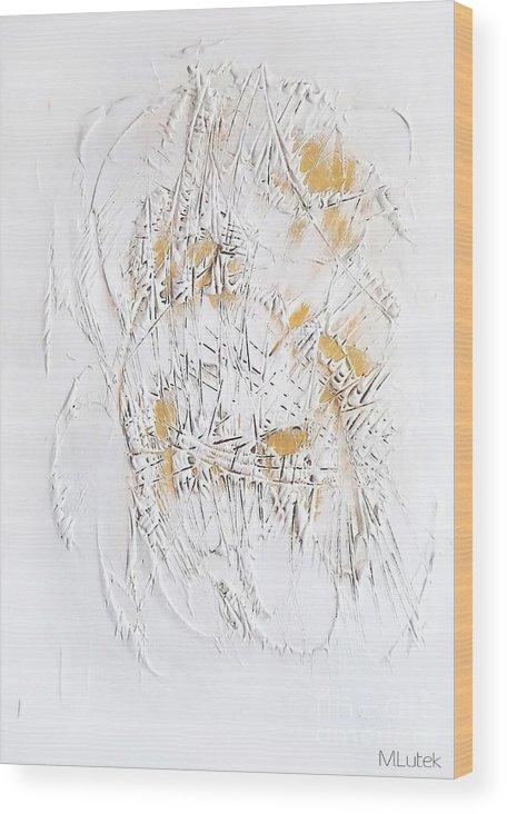 Abstraction Wood Print featuring the digital art Skeleton 652 - Marucii by Marek Lutek
