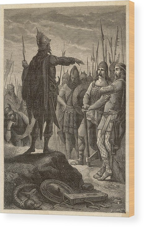 Odoacer Wood Print featuring the drawing The First Barbarian King Of Italy by Mary Evans Picture Library