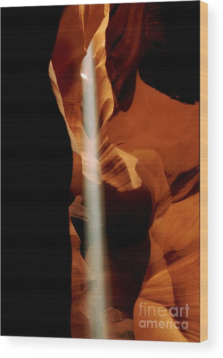 Antelope Canyon Wood Print featuring the photograph The Source by Kathy McClure