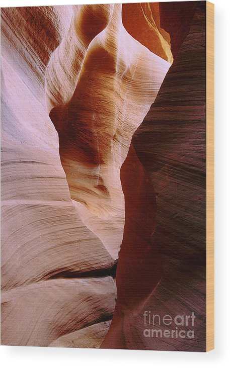 Antelope Canyon Wood Print featuring the photograph Timeless by Kathy McClure