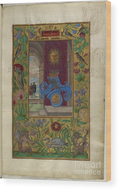 Armour Wood Print featuring the photograph Two Golden Suns by British Library