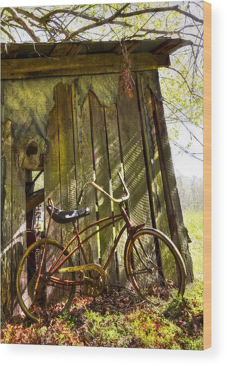 Appalachia Wood Print featuring the photograph Yesterday by Debra and Dave Vanderlaan
