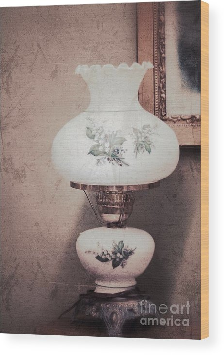 Old Lamp Wood Print featuring the photograph Yesteryear by Carolyn Fox