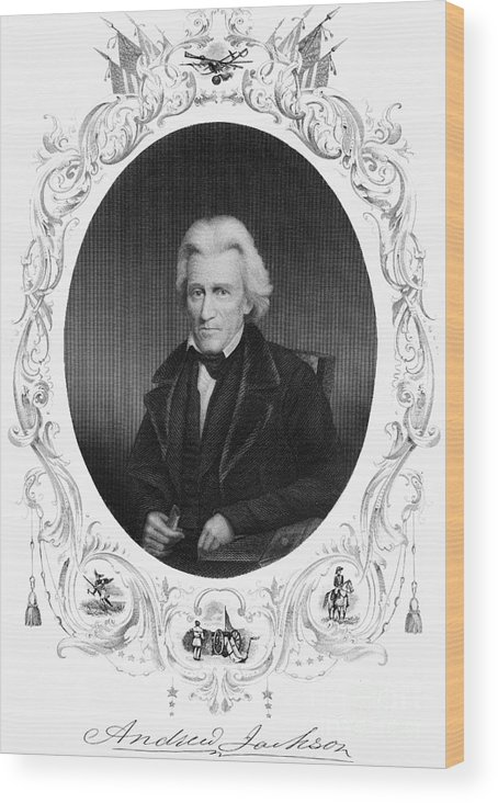 19th Century Wood Print featuring the photograph Andrew Jackson (1767-1845) by Granger