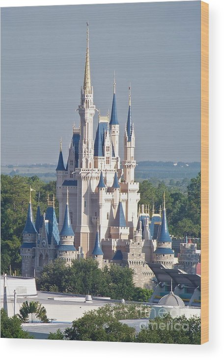 Wdw Wood Print featuring the photograph Cinderella's Castle by Carol Bradley